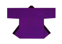 【無地半天】紫  Gポプリン(綿100%) 同色の帯付
