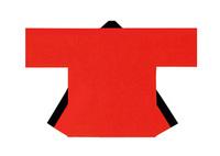 【無地半天】赤  Gポプリン(綿100%) 同色の帯付