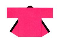 【無地半天】ピンク  Gポプリン(綿100%) 同色の帯付