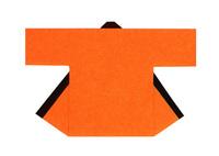 【無地半天】オレンジ  Gポプリン(綿100%) 同色の帯付
