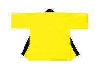 【無地半天】黄  Gポプリン(綿100%) 同色の帯付