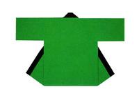 【無地半天】グリーン  Gポプリン(綿100%) 同色の帯付