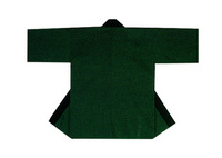 【無地半天】濃緑  Gポプリン(綿100%) 同色の帯付