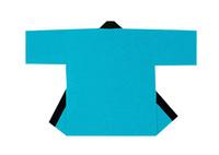 【無地半天】ライトブルー  Gポプリン(綿100%) 同色の帯付