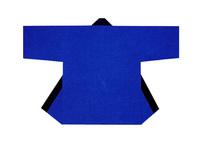 【無地半天】ブルー  Gポプリン(綿100%) 同色の帯付