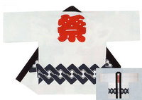 【シルクプリント半天】  シャークスキン(綿100%)