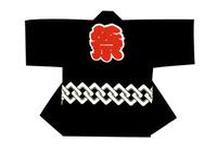 【シルクプリント子供半天】  シャークスキン(綿100%)
