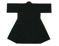 【無地長半天】黒  Gポプリン(綿100%)