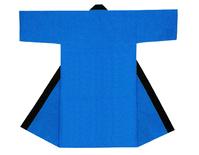 【無地長半天】ブルー  Gポプリン(綿100%)