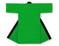 【無地長半天】グリーン  Gポプリン(綿100%)