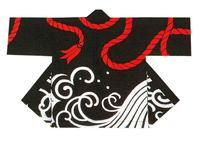【祭・踊り半天】  シャンタン(綿100%)