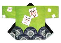 【祭・踊り半天】  絽(ポリエステル100%)