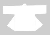 【無地半天】白(衿も白)  Gポプリン(綿100%) 同色の帯付