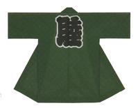 【綿絽長半天】   綿絽(綿100%) (深緑)