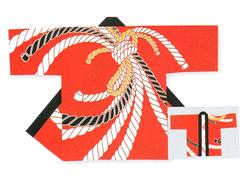 【祭・踊り半天】  タッサーブロード(綿100%)