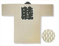 【長半天】 ベージュ地に茶  天竺(綿100%)