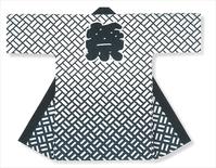 【長半天】白地に濃紺  11号帆布(綿100%)