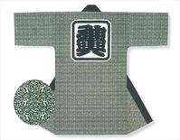 【長半天】薄緑地に濃緑  11号帆布(綿100