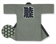 【長半天】灰緑地に濃紺  11号帆布(綿100%)