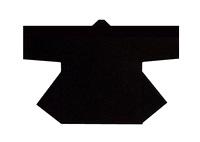 【無地半天】黒  Gポプリン(綿100%) 同色の帯付