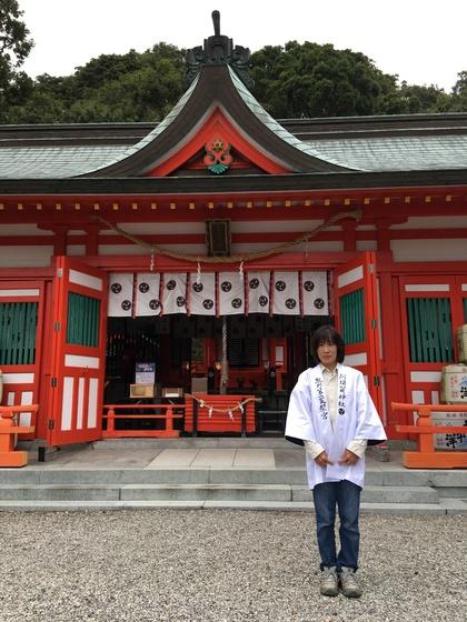 「新宮発祥の地」とも言われる阿須賀神社様。 由緒正しい神社の佇まいと、法被の装い共に素敵です!