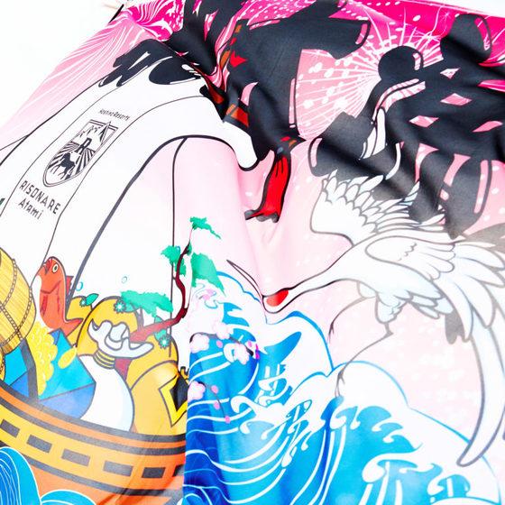 夏休みはちびっ子たちの自由研究にも最適な「Fisherman's JOB」が開催予定! こちらも参加して体験して皆で楽しめる、今回の大漁旗のような元気の出る企画。  熱海の海の素晴らしさと共に、この夏「星野リゾート リゾナーレ熱海」様で・・・ 祝大漁じゃ~!!!